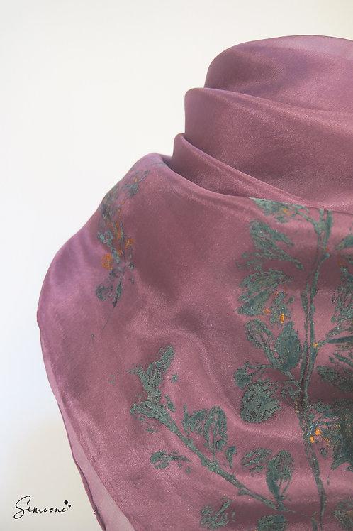 Zachte sjaal paars
