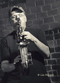 Stephen Shoel Wachtel and his saxophone. Photo by Jeff Williams.