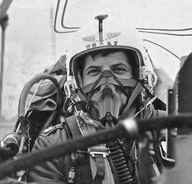 Captain Stephen Shoel Wachtel at 15,000 feet over San Antonio, 1965.