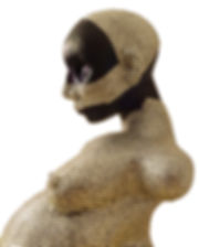 muslim woman crystal sculpture