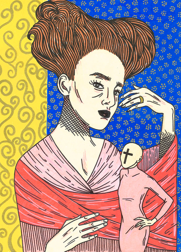 self-portrait brazilian artist