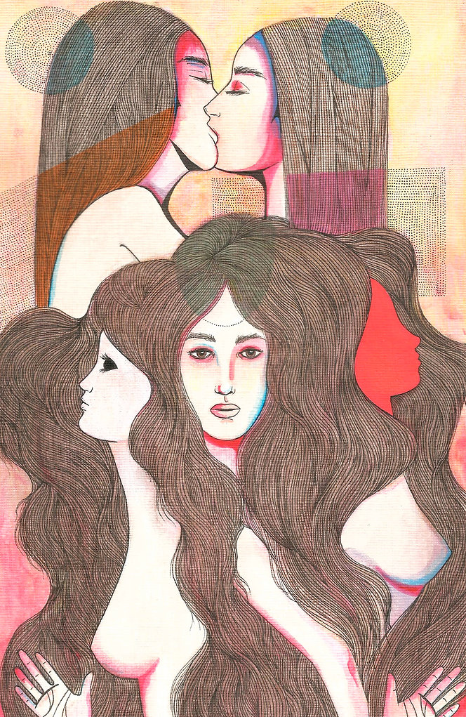 cerberus painting lesbian