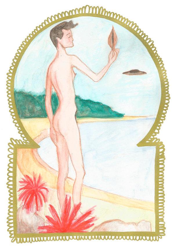 self-portrait brazilian female artist