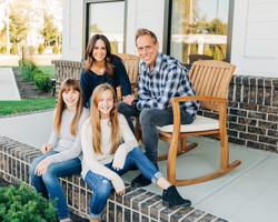 family, porch, color