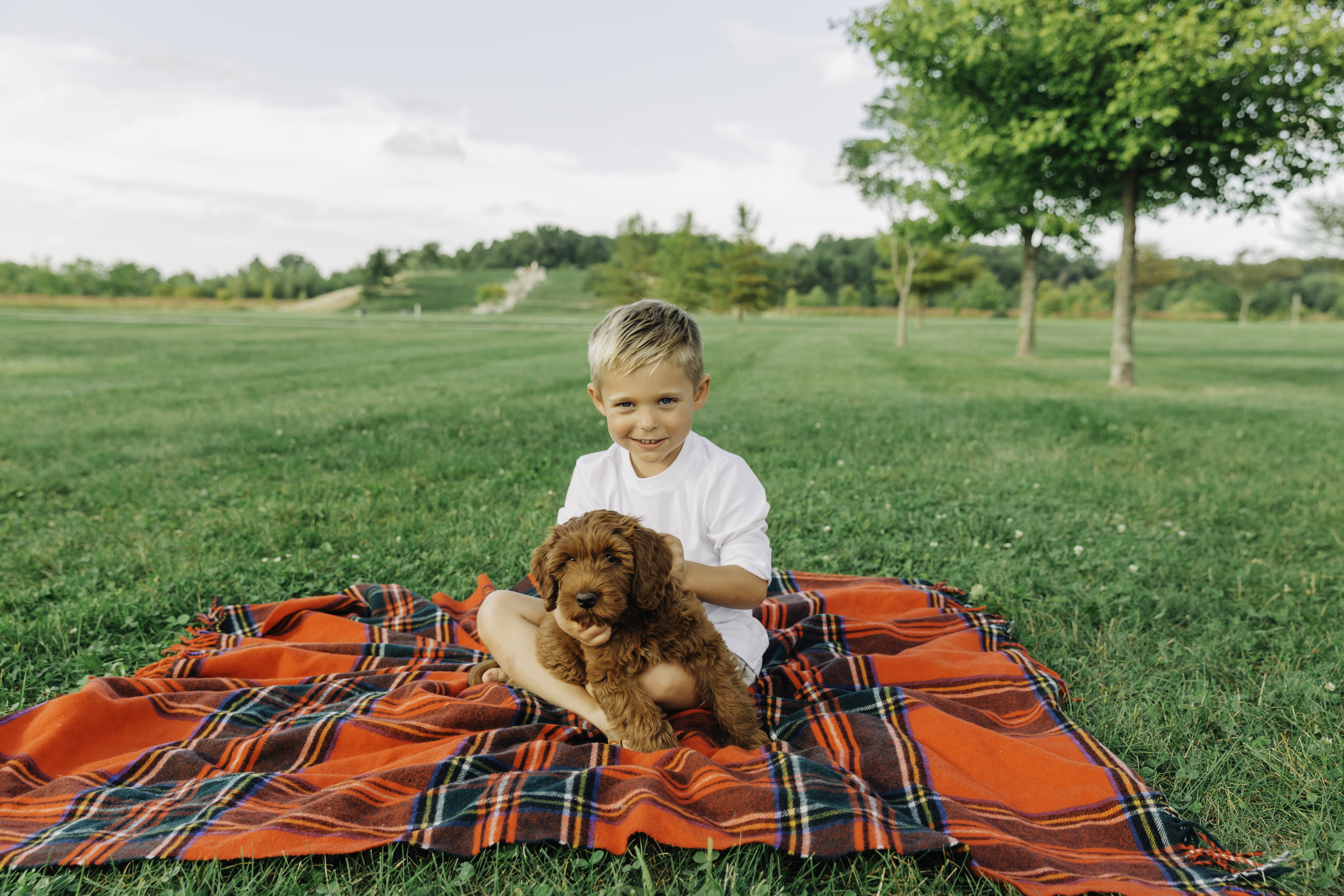 Boy + pup, summer