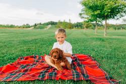 Boy + pup, summer