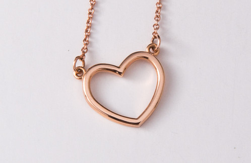 14k rose gold heart necklace btodonnellgoldsmith 14k rose gold heart necklace aloadofball Gallery