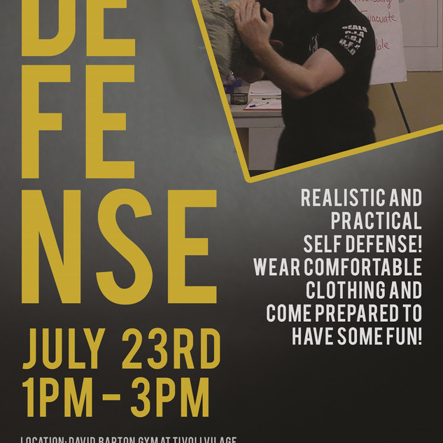 self defense event