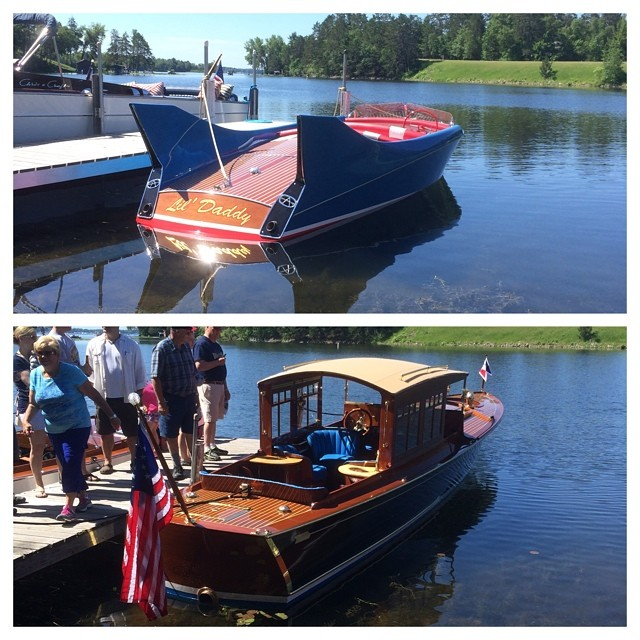 It's a beautiful day for the 27th annual Woodboat Show