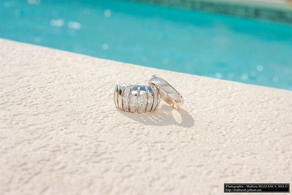 Alliances Mariage diamant Cannes - Mougins (06). Wil Le Cher Artisan Joaillier Alliances en or 18 carats et diamants, création de bijoux à Cannes - Mougins (06)