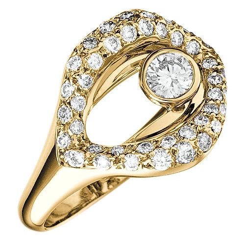 Bague la Croqueuse de Diamant en or jaune