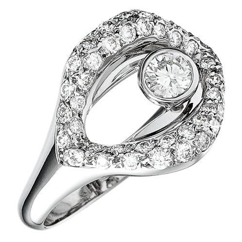 Bague la Croqueuse de Diamant en or blanc