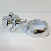 TOILET CISTERN SPARES SIAMP OPTIMA 49 RAISED LESS ABLED 34505407 SINGLE PUSH BUTTON CHROME