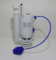 DERWENT MACDEE ARCADIA 2 INCH DUAL FLUSH OUTLET DROP VALVE BLUE AND WHITE WAVES CABLE
