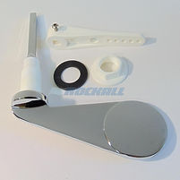 """DISABLED ½"""" DIMPLE ELBOW SPATULA PADDLE ELDERLY EASY TO USE CISTERN LEVER CHROME"""