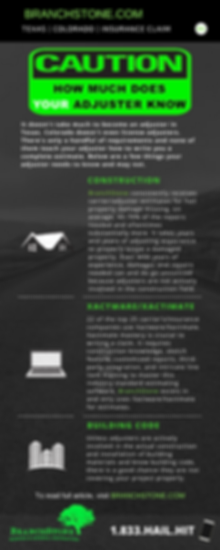 BranchStone Infographic Adjuster Caution