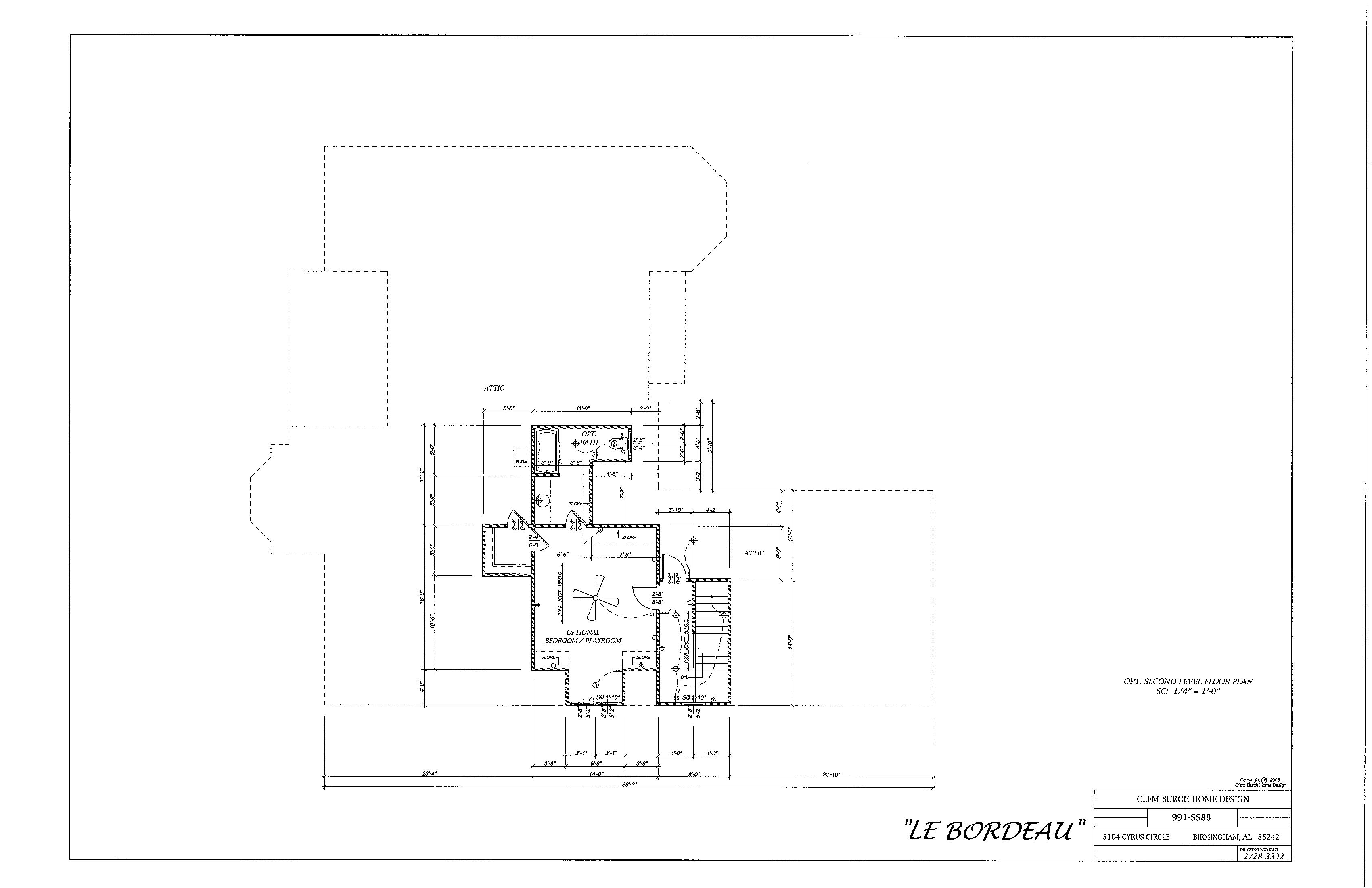 Le_Bordeau Floor Plan 2nd