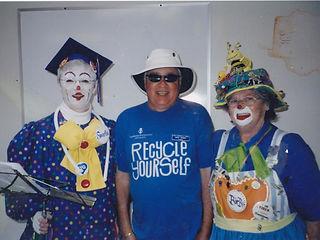 Doug with Clowns Birbie & Smilie Recyle