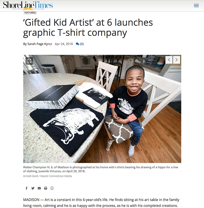 Kid Artist launches t-shirt company with Hippo Tee