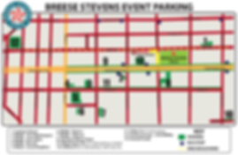 Breese Stevens Parking Map - Mad Gael Music Fest