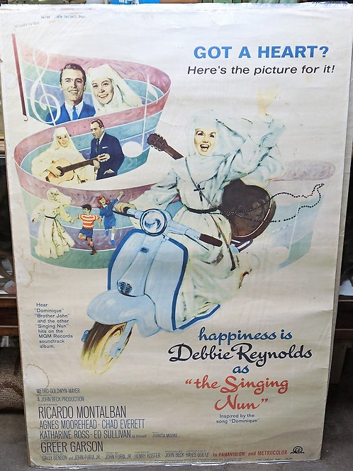 1950s-60s Movie Poster - The Singing Nun