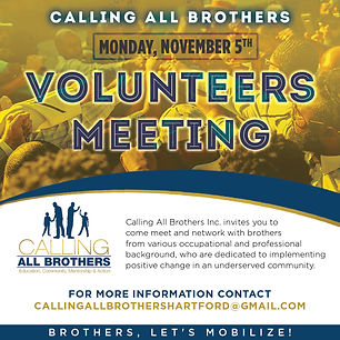 Volunteering Meeting Calling All Brothers