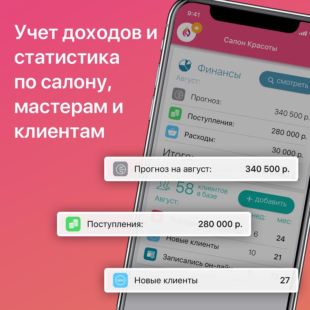 Masters - приложение для записи клиентов и ведения расписания