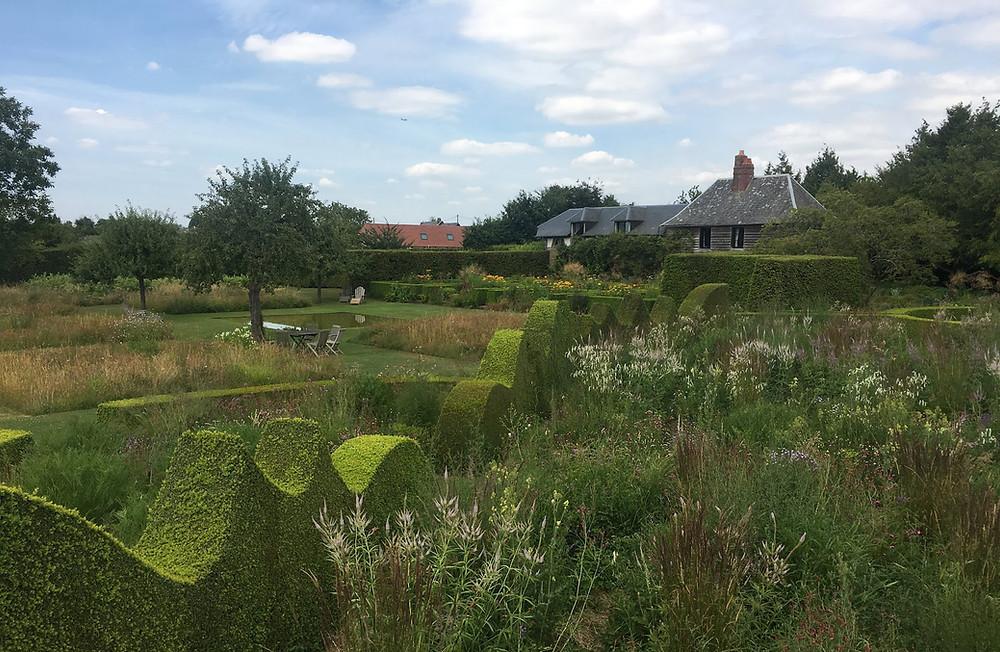 Buksbomhekk i Jardin Plume i Normandie