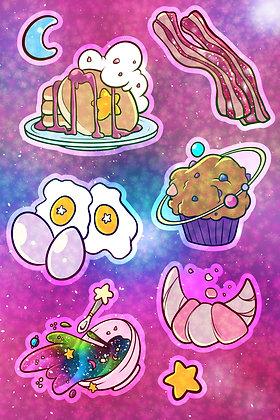 Cosmic Breakfast Sticker Sheet