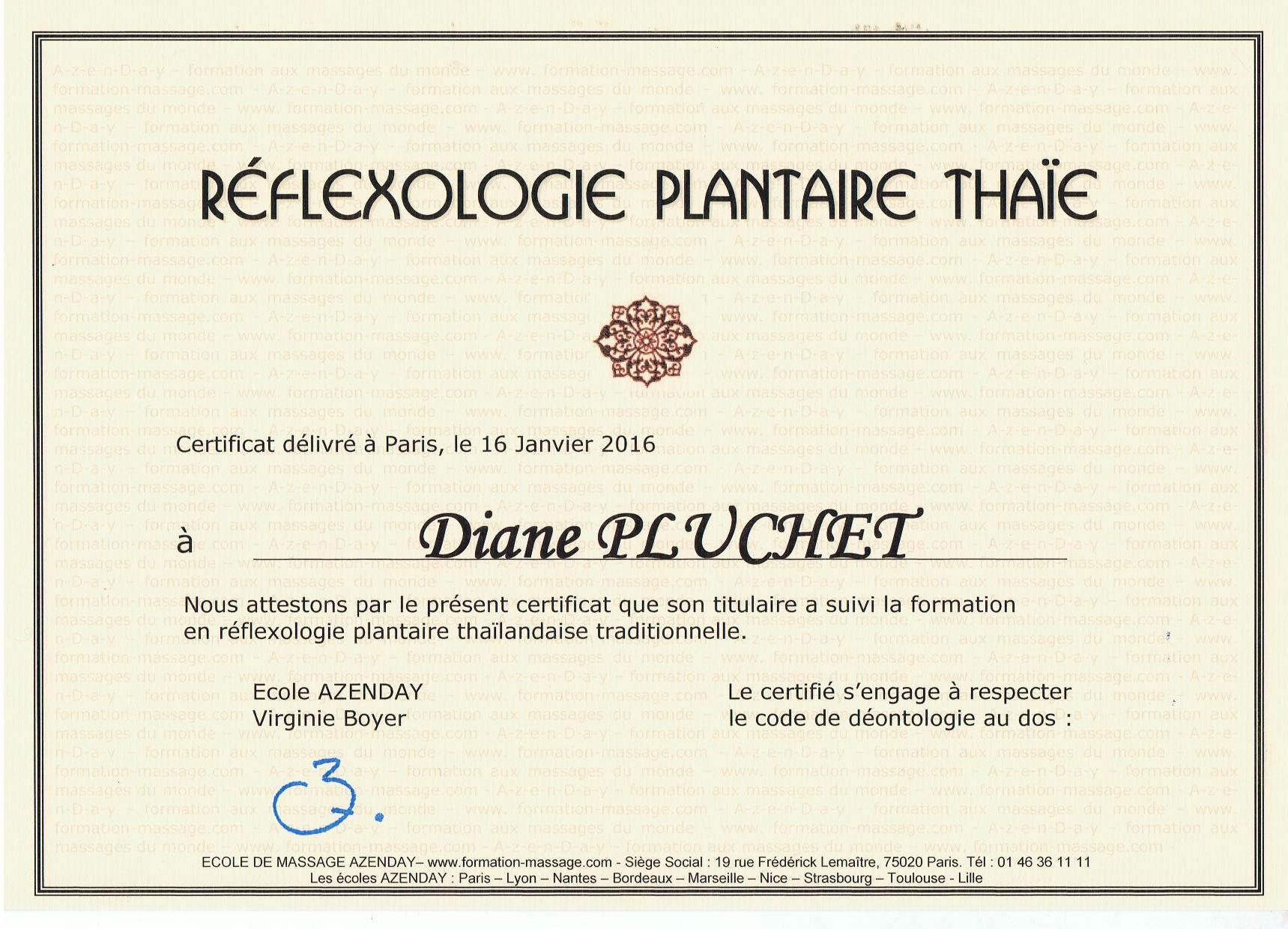 certification réflexologie