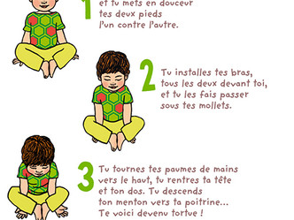 Yoga Enfants : la tortue