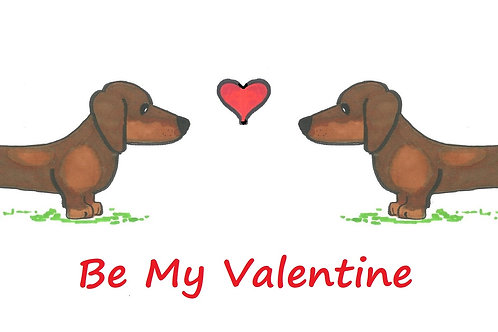 Cards - Valentines Day - Dachshunds & Greyhounds