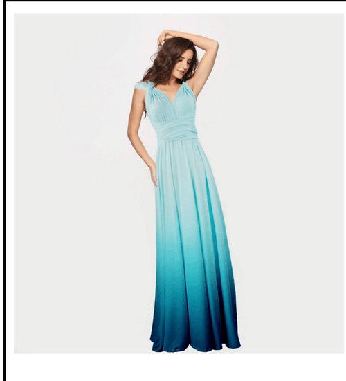 Ocean Blue Ombre Dress