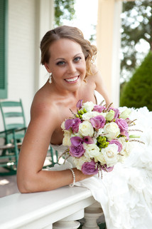 lavender and white bridal bouquet