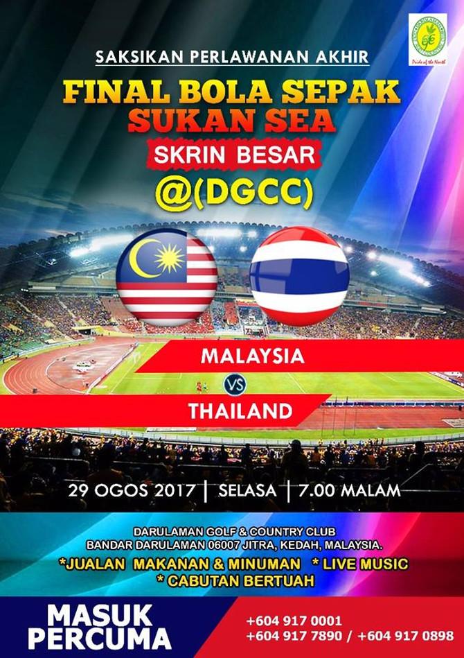 Live Final Bola Sepak Sukan Sea di Skrin Besar, DGCC, Jitra, Kedah