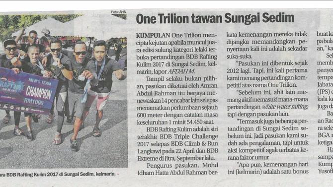 One Trillion tawan Sungai Sedim- Sinar Harian