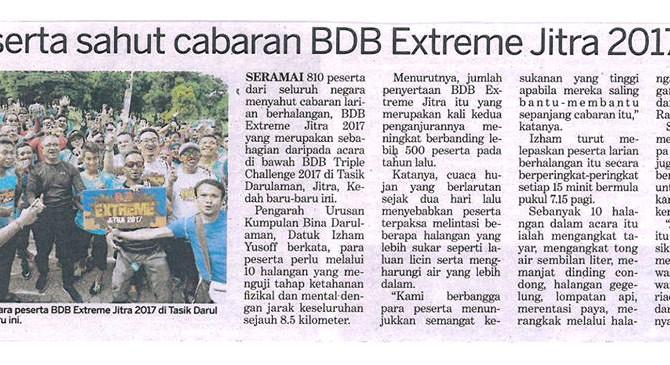 810 Peserta Sahut Cabaran BDB Extreme Jitra 2017- Kosmo