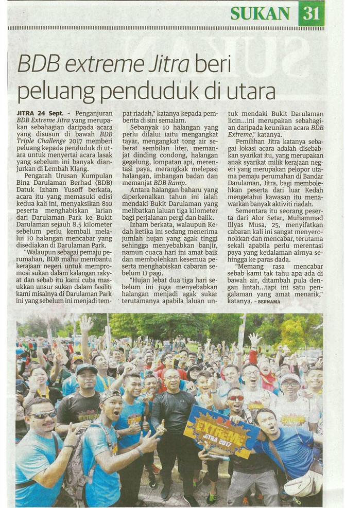 BDB Extreme Jitra beri peluang penduduk di Utara - Utusan Malaysia