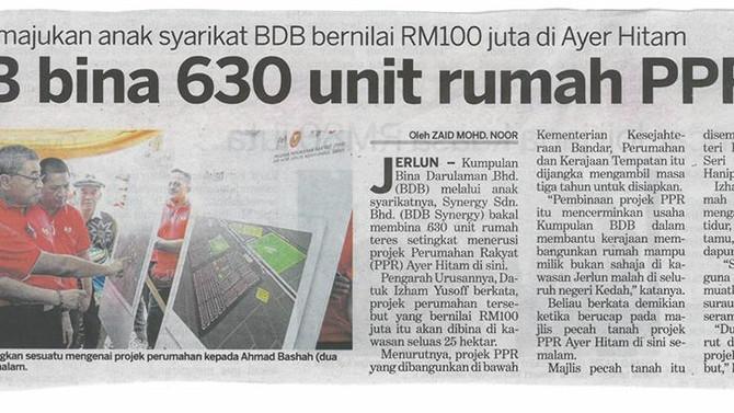 BDB bina 630 unit rumah PPR - Kosmo