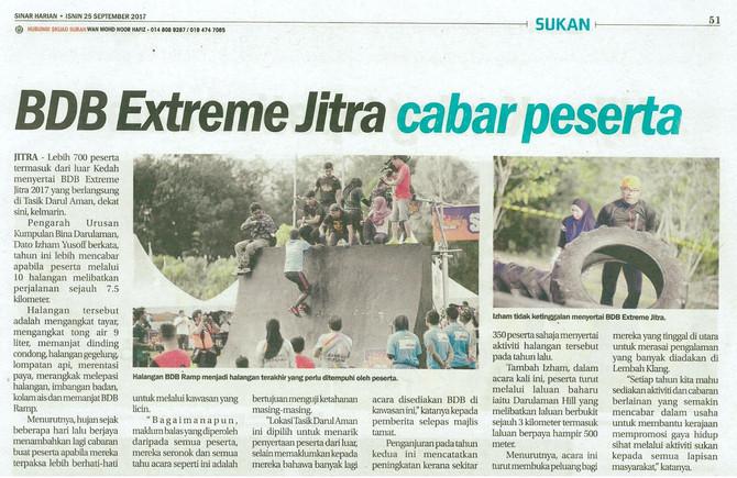 BDB Extreme Jitra cabar peserta- Sinar Harian