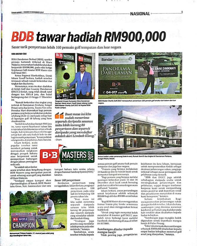 BDB tawar hadiah RM900,000- Sinar Harian