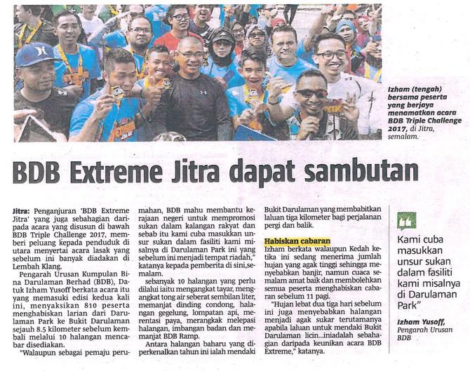 BDB Extreme Jitra dapat sambutan- Berita Harian