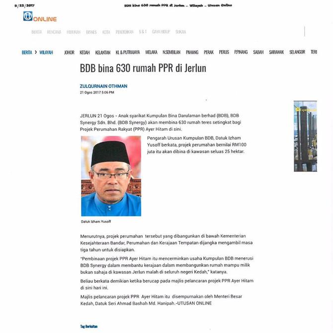 BDB bina 630 rumah PPR - Utusan Online