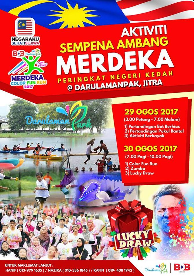 Aktiviti Sempena Ambang Merdeka di Darulaman Park, Jitra, Kedah