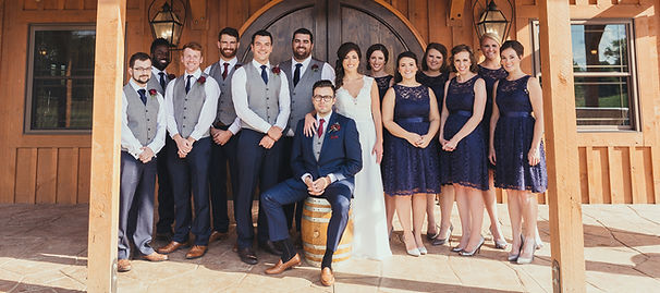 Wedding Party in a Cincinnati wedding