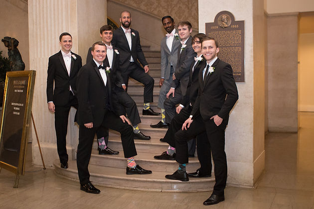 Groomsmen in a Cincinnati wedding