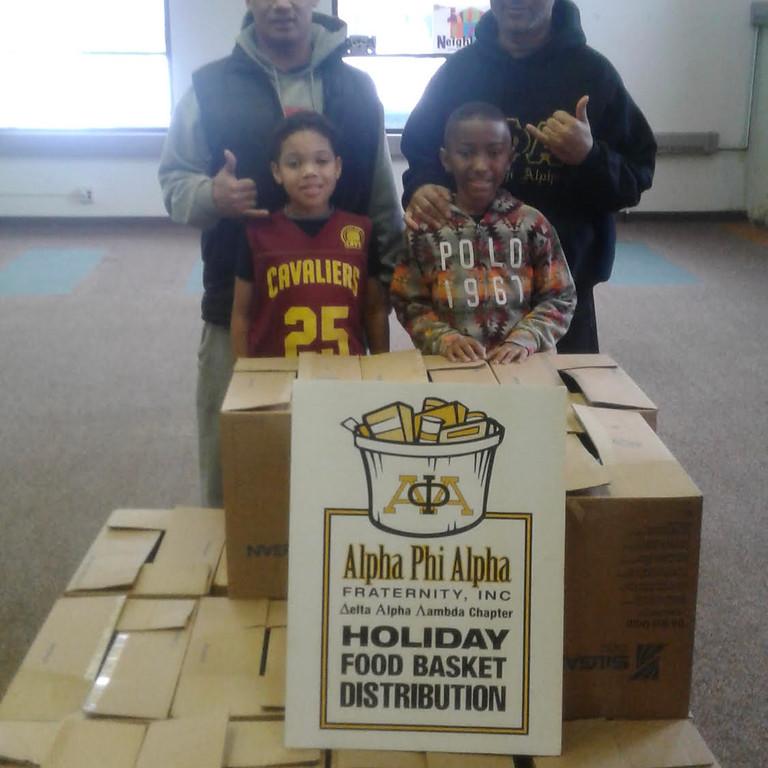 Alpha Phi Alpha Holiday Food Basket Distribution