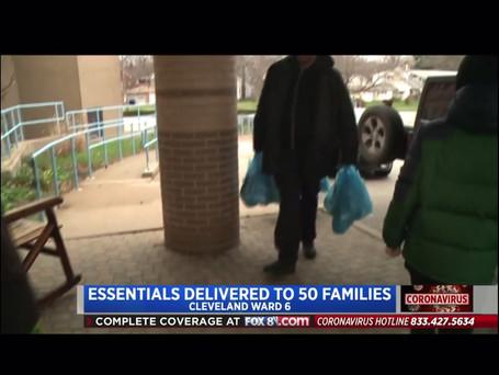 FOX8 News Coverage: Fairhill Family Center Food Basket Drive