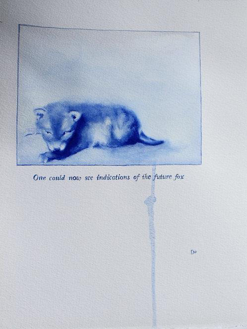 Edith Dormandy, '... Future Fox', 2020, watercolour on paper, 46x35cm