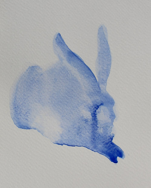 Edith Dormandy, 'Dürer Hare 3', 2018, watercolour on paper, 19 x 14cm